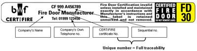 BWF Label Details