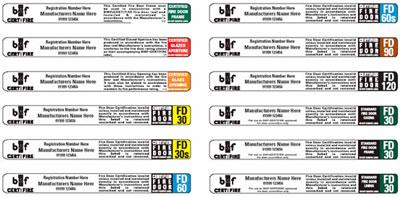 Certifire Labels