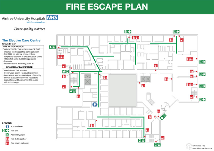 Fire emergency evacuation plan and the fire procedure for Fire evacuation plan template for office