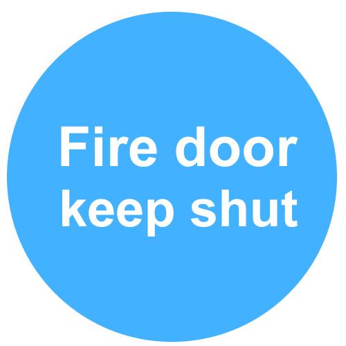 Fire Door Keep Shut Sign Type